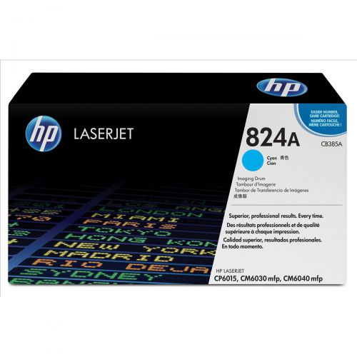 Hewlett Packard [HP] No. 824A Laser Drum Unit Page Life 35000pp Cyan Ref CB385A