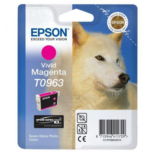 Epson T0963 Inkjet Cartridge Husky Page Life 865pp 11.4ml Vivid Magenta Ref C13T09634010