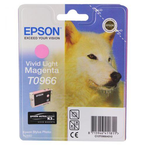Epson T0966 Inkjet Cartridge Husky Page Life 835pp 11.4ml Light Magenta Ref C13T09664010