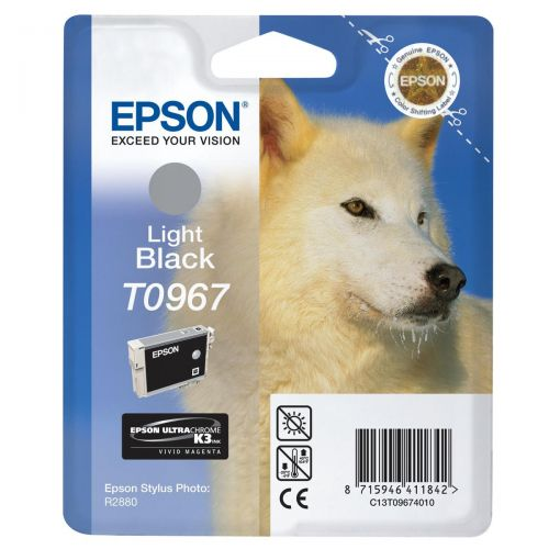 Epson T0967 Inkjet Cartridge UltraChrome K3 Page Life 6210pp Light Black Ref T09674010