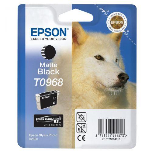 Epson T0968 Inkjet Cartridge Husky Page Life 495pp 11.4ml Matte Black Ref C13T09684010