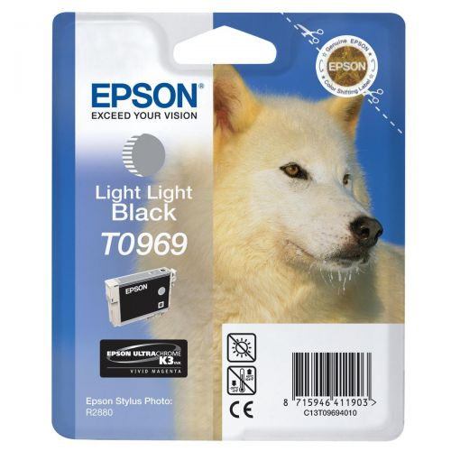 Epson T0969 Inkjet Cartridge Husky Page Life 6065pp 11.4ml Light Light Black Ref C13T09694010