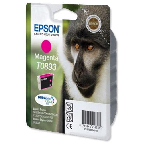 Epson T0893 Inkjet Cartridge Durabrite Page Life 135-155pp Magenta Ref T08934011