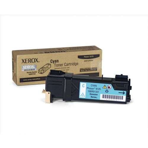 Xerox Phaser 6125 Laser Toner Cartridge Page Life 1000pp Cyan Ref 106R01331