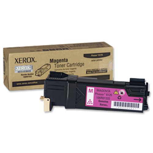 Xerox Phaser 6125 Laser Toner Cartridge Page Life 1000pp Magenta Ref 106R01332