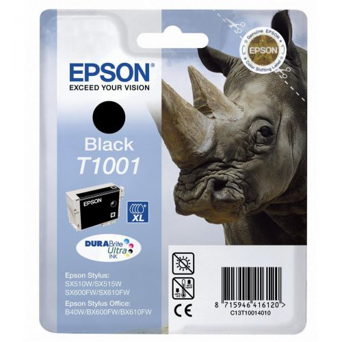 Epson T1001 Inkjet Cartridge Rhino 995pp 25.9ml Black Ref C13T10014010