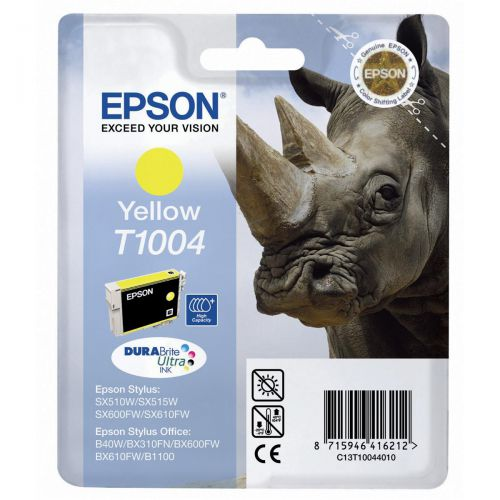 Epson T1004 Inkjet Cartridge Rhino 990pp 11.1ml Yellow Ref C13T10044010