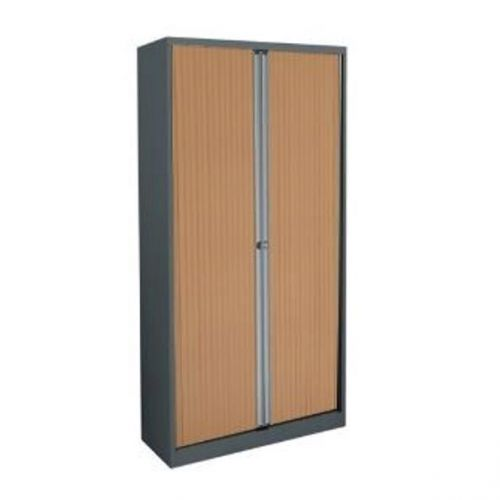 Trexus by Bisley Side Opening Tambour Cupboard inc 4Sh 1000x470x1970-1985mm Slv/Bch Ref WTB1019/4S.BC