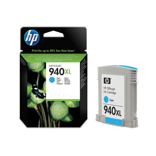 Hewlett Packard [HP] No.940XL Officejet Inkjet Cartridge HY Page Life 1400pp 16ml Cyan Ref C4907AE