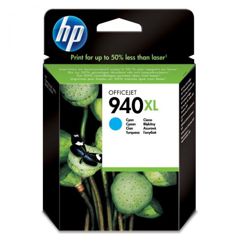 Hewlett Packard [HP] No.940XL Officejet Inkjet Cartridge HY Page Life 1400pp 16ml Cyan Ref C4907AE