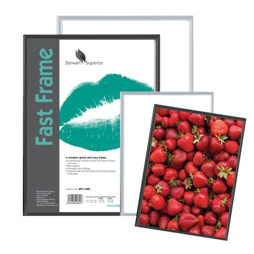 Image for 5 Star Facilities Snap Photo Frame with Non-glass Polystyrene Front Back-loading A4 220x17x307mm Silver