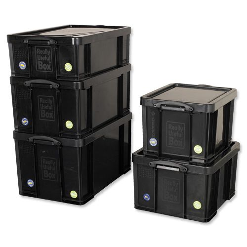 sc 1 st  Inter County Office Supplies Ltd & 846629 Really Useful 84 Litre Recycled Storage Box Black