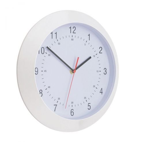 5 Star Facilities Wall Clock With Coloured Case Diameter 300mm White