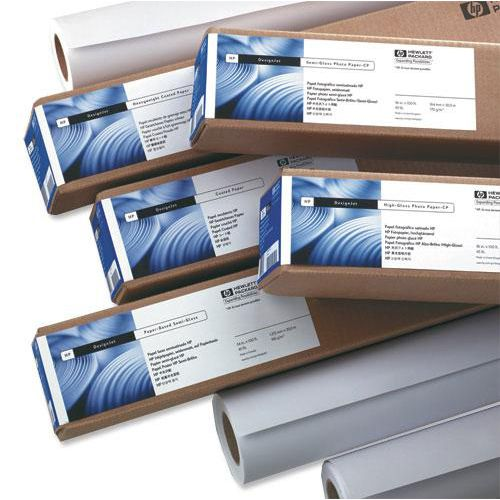 Hewlett Packard [HP] Bright White Inkjet Paper Roll 90gsm 841mm x 45.7m White Ref Q1444A
