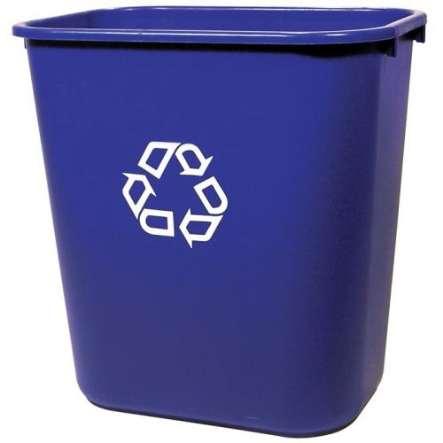 Rubbermaid Waste Basket Polyethylene Rectangular 26.6 Litres 365x260x380mm Blue Ref FG295673BLUE