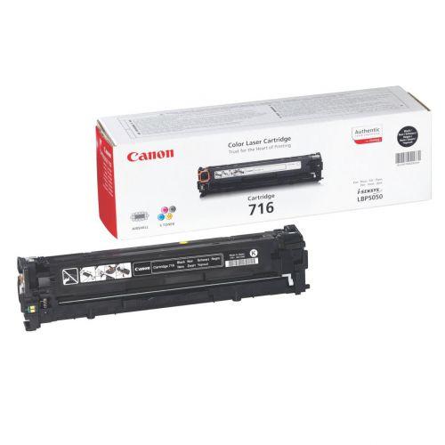Canon 716BK Laser Toner Cartridge Page Life 2300pp Black Ref 1980B002