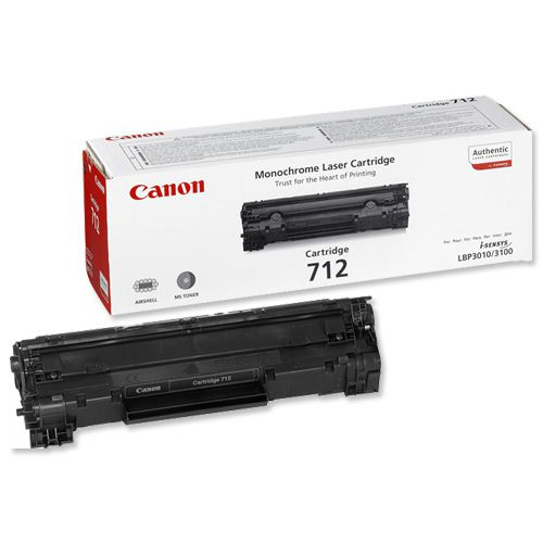 Canon 712 Laser Toner Cartridge Page Life 1500pp Black Ref 1870B002