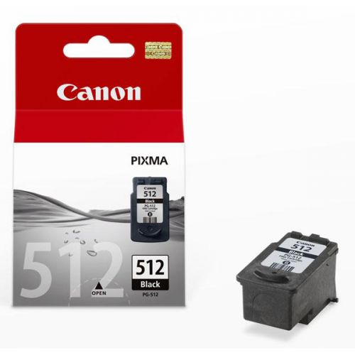 Canon PG-512 Inkjet Cartridge High Yield Page Life 401pp 15ml Black Ref 2969B001AA