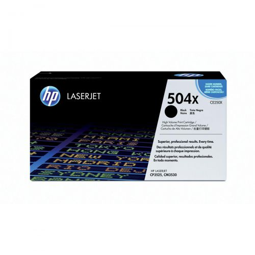 HP 504X Laser Toner Cartridge High Yield Page Life 10500pp Black Ref CE250X