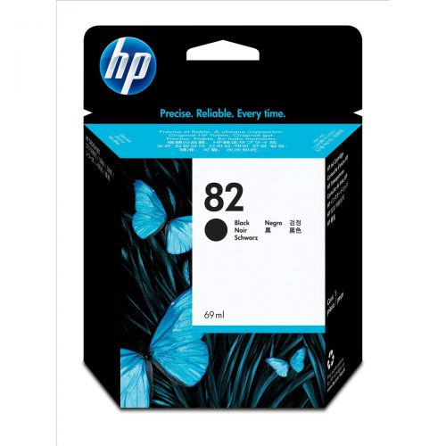 Hewlett Packard [HP] No.82 Inkjet Cartridge High Yield 3200pp 69ml Black Ref CH565A