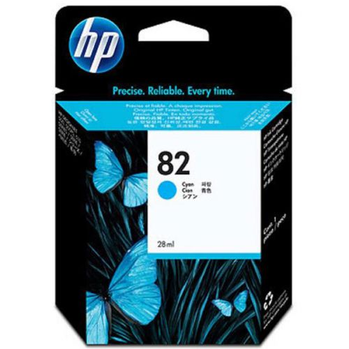 Hewlett Packard [HP] No.82 Inkjet Cartridge 28ml Cyan Ref CH566A