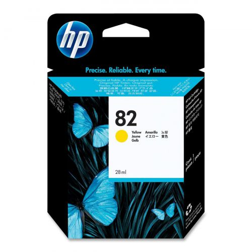 Hewlett Packard [HP] No.82 Inkjet Cartridge 28ml Yellow Ref CH568A