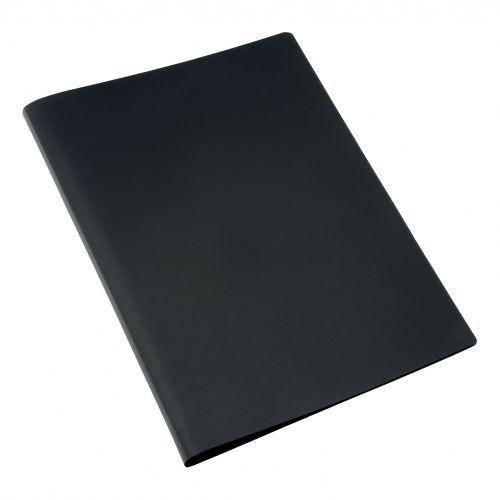 5 Star Office Display Book Soft Cover Lightweight Polypropylene 20 Pockets A4 Black