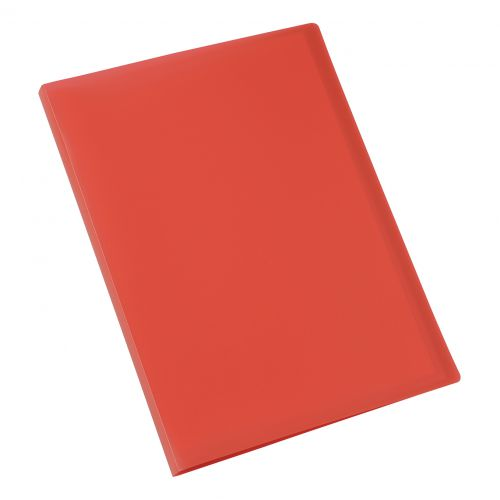 5 Star Office Display Book Soft Cover Lightweight Polypropylene 20 Pockets A4 Red