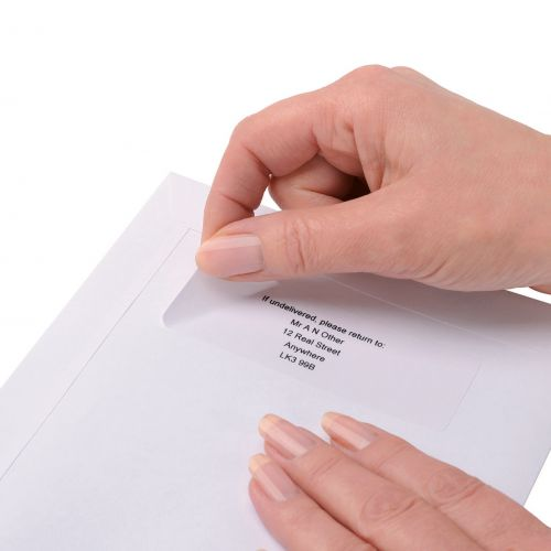 Image for 5 Star Office Addressing Labels Inkjet 16 per Sheet 99.1x34mm White [1600 Labels]