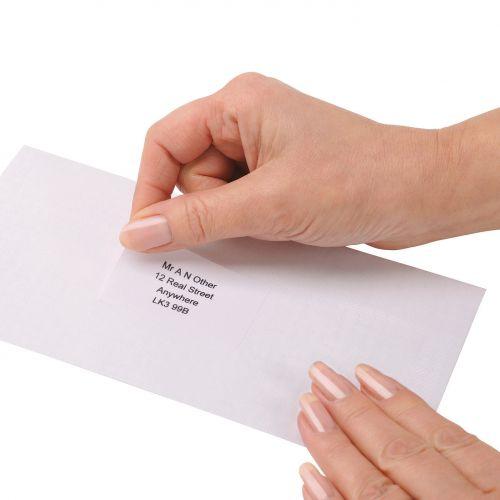Image for 5 Star Office Addressing Labels Inkjet 18 per Sheet 63.5x46.6mm White [1800 Labels]