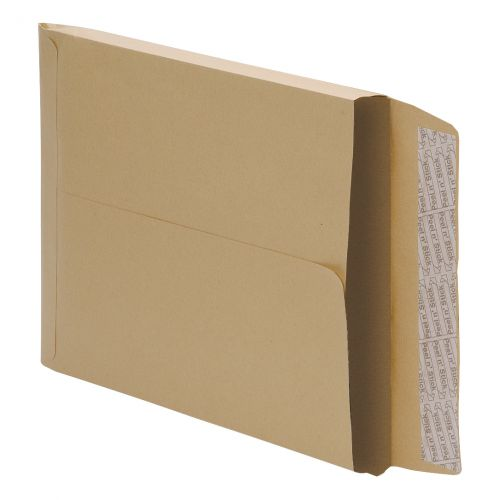 5 Star Office Envelopes 406x305mm Gusset 25mm Peel and Seal 115gsm Manilla [Pack 125]