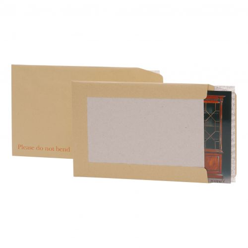 5 Star Office Envelopes Recycled Board-backed Hot Melt Peel and Seal 241x178mm 120gsm Manilla [Pack 125]