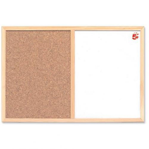 5 Star Office Combination Noticeboard Cork and Drywipe W900xH600mm