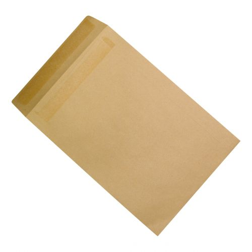 5 Star Office Envelopes Recycled 254x178mm Pocket Self Seal 90gsm Manilla [Pack 500]