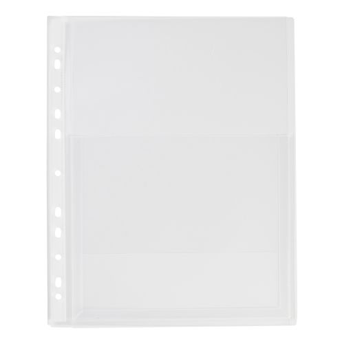 5 Star Elite Expanding Punched Pocket with Flap Polypropylene Top-opening 200 Micron A4 Clear [Pack 10]