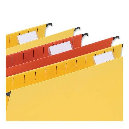 5 Star Office Card Inserts for Wrap-around Suspension File Tabs White [Pack 56]