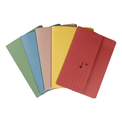 5 STAR DOCUMENT WALLETS 285GSM A4 ASRTED