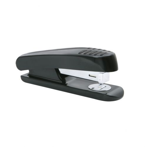 5 Star Office Stapler Half Strip Plastic Capacity 20 Sheets Black