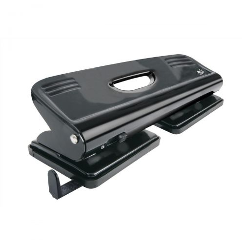 5 Star Office Punch 4-Hole Metal with Plastic Base Capacity 16x 80gsm Black