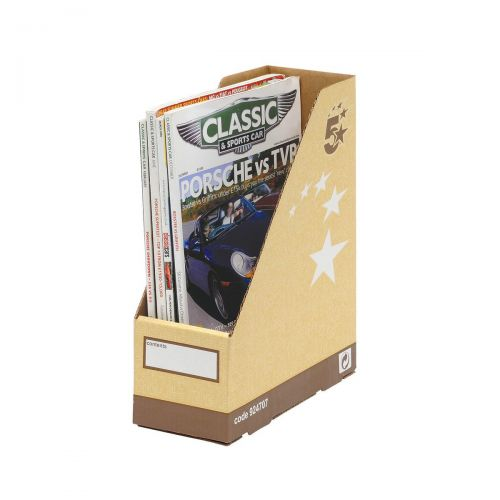 5 Star Elite Magazine File Quick-assembly A4 Plus Sand [Pack 10]
