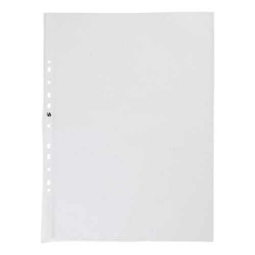 5 Star Office Punched Pocket Polypropylene Top-opening Portrait 120 Micron A3 [Pack 25]