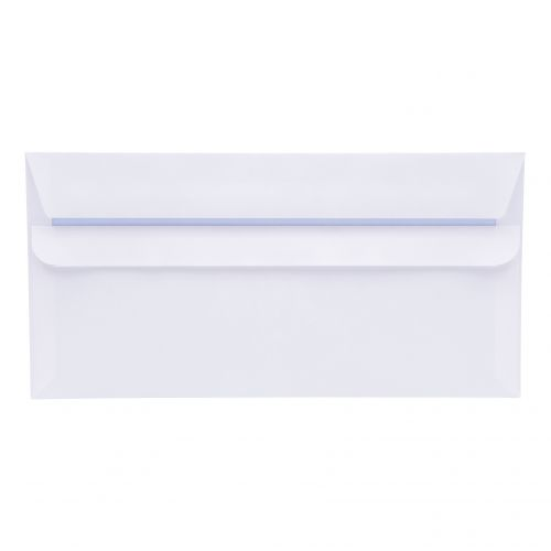 5 Star Office Envelopes PEFC Wallet Self Seal 80gsm DL 220x110mm White Retail Pack [Pack 50]