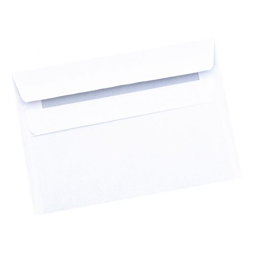 5 Star Office Envelopes PEFC Recycled Wallet Self Seal LitWght 80gsm C6 114x162 Retail Pk White [Pack 50]