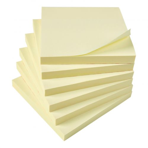 5 Star Office Extra Sticky Re-Move Notes Pad of 90 Sheets 76x76mm Yellow [Pack 12]
