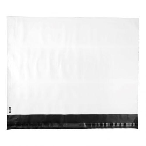 5 Star Elite Envelopes ExtraStrong Waterproof Polythene Peel & Seal Opaque 440x330mm&50mm Flap [Pack 100]