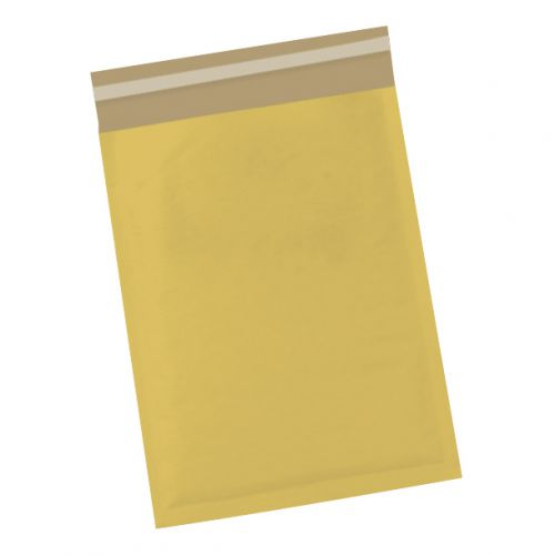 5 Star Office Bubble Lined Bags Peel & Seal No.4 240x320mm Gold [Pack 50]