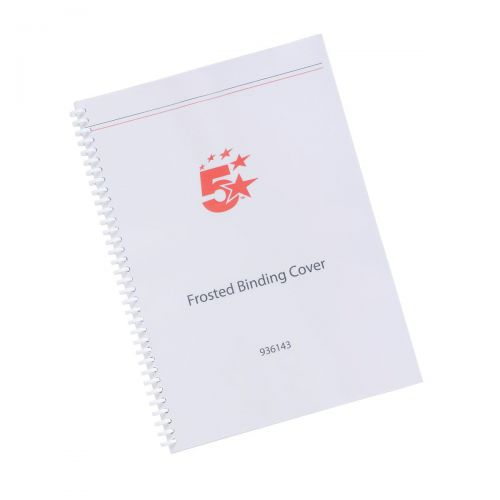 5 Star Office Binding Covers 300micron A4 Frosted [Pack 100]