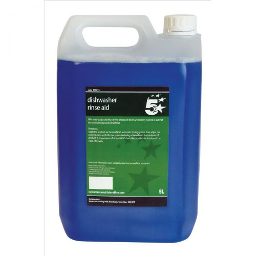 5 Star Facilities Dishwasher Rinse Aid 5 Litres