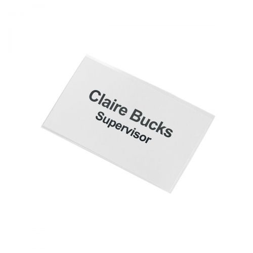 5 Star Office Name Badge with Combi-Clip 45x75mm [Pack 50]