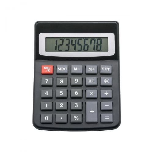 Image for 5 Star Office Desktop Calculator 8 Digit Display 3 Key Memory Battery/Solar Power 100x13x130mm Black